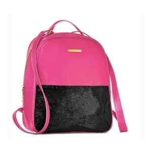 Juicy Couture fuschia pink black backpack